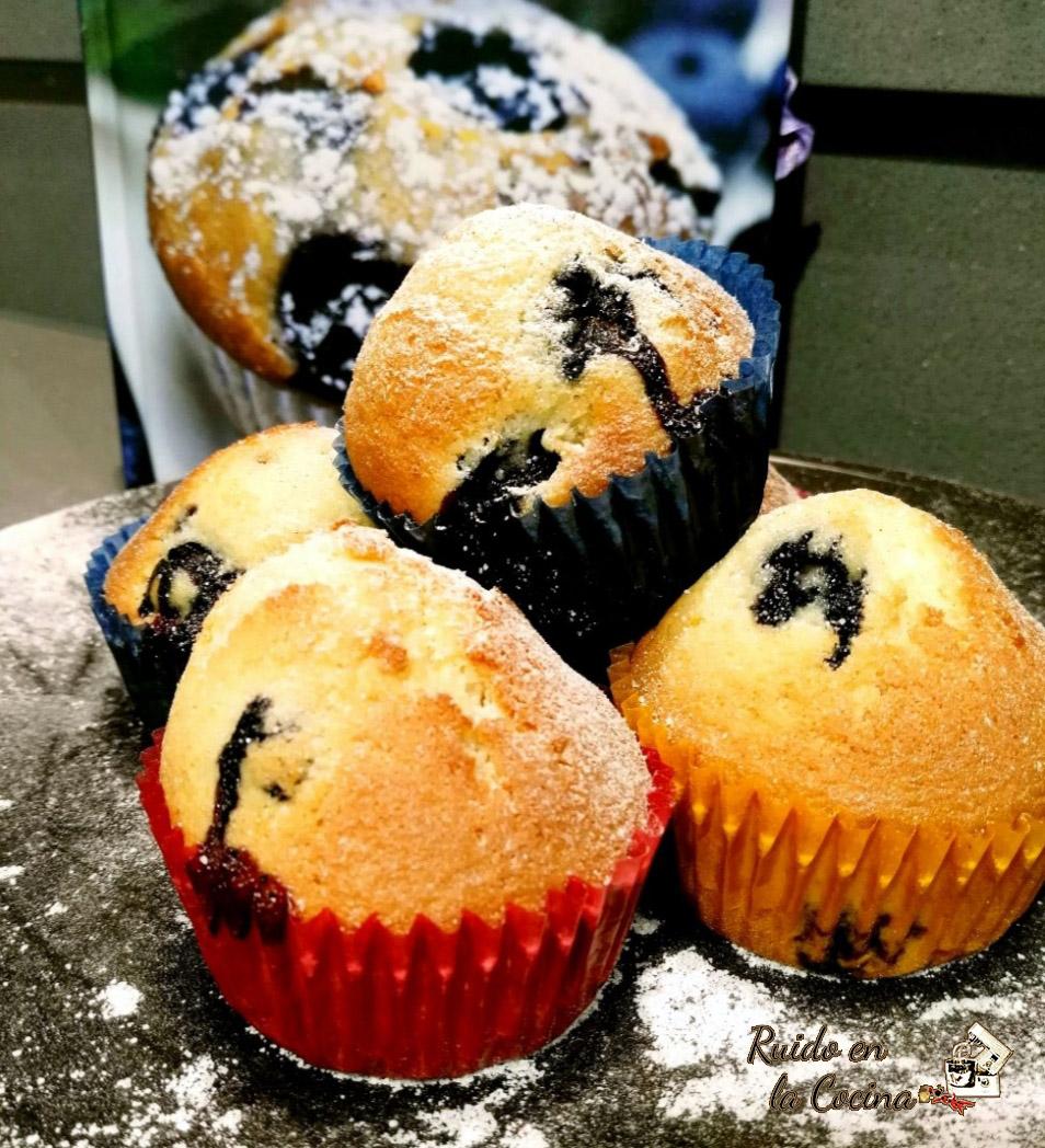 Muffins de arándanos y queso
