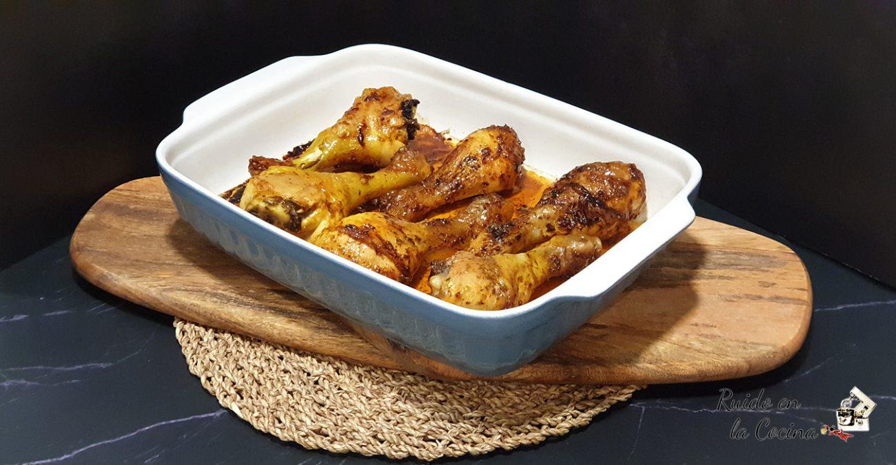 Jamoncitos de pollo picantes, al horno