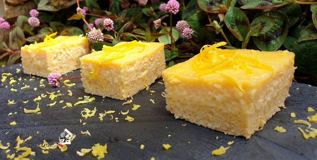 Pastel de limón y almendras
