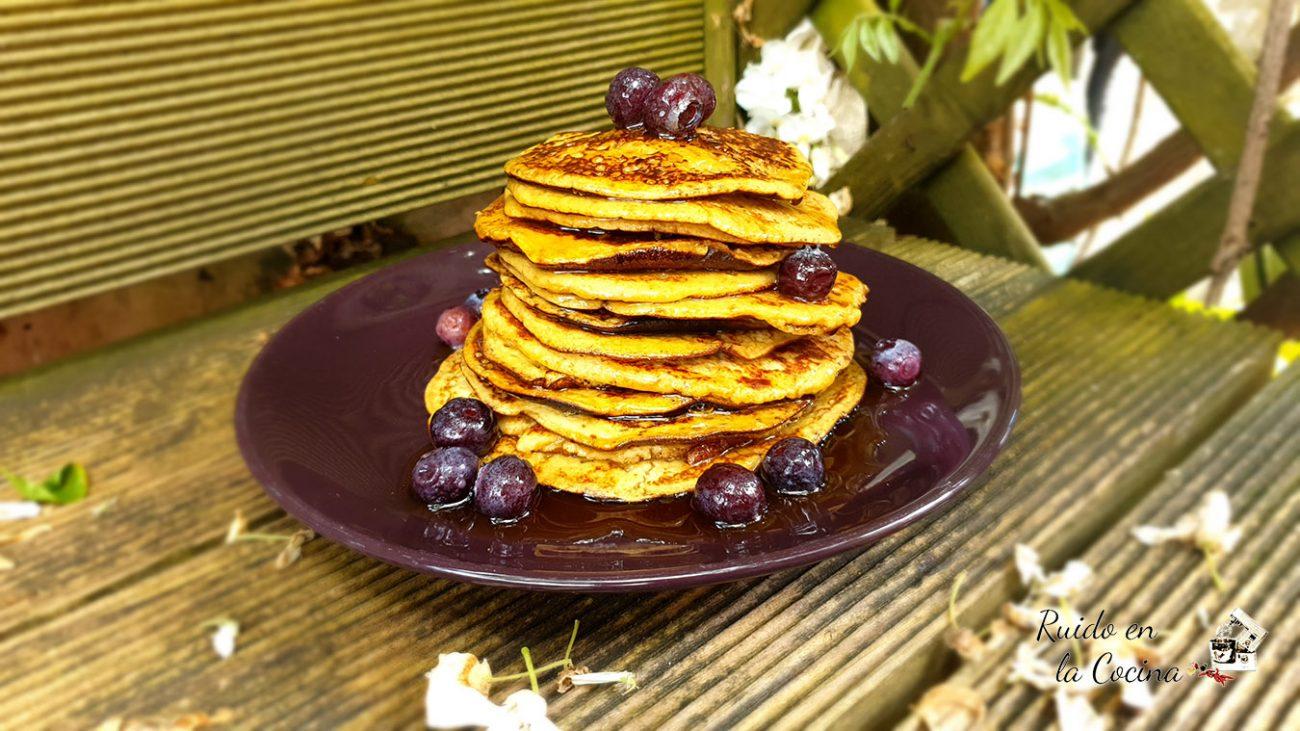Tortitas o pancakes de plátano y avena