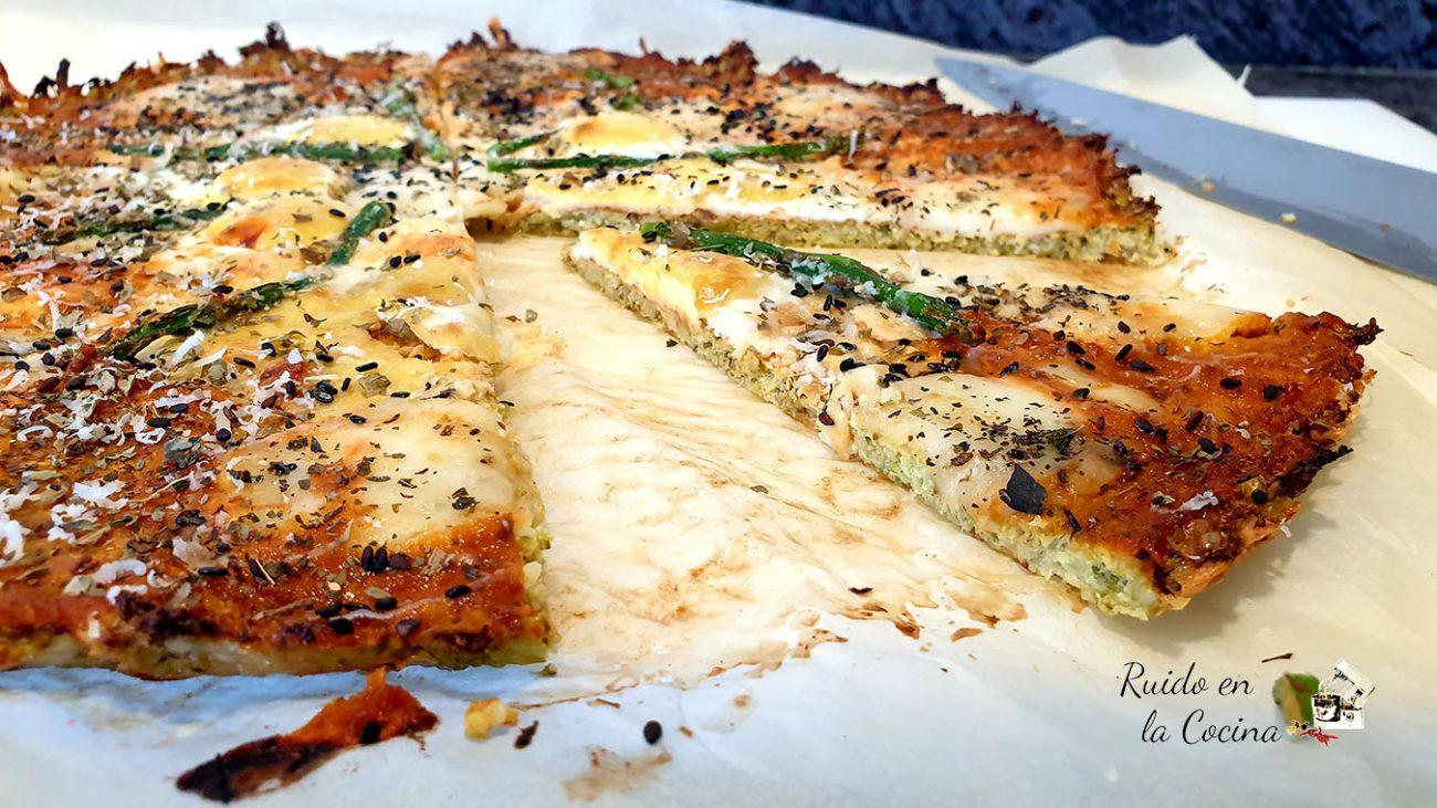 Pizza de brócoli, receta saludable