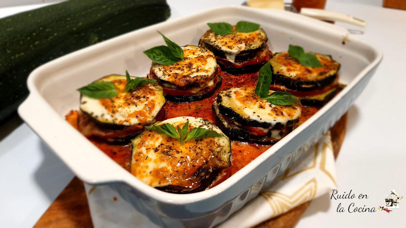 Timbal de verduras a la parmesana