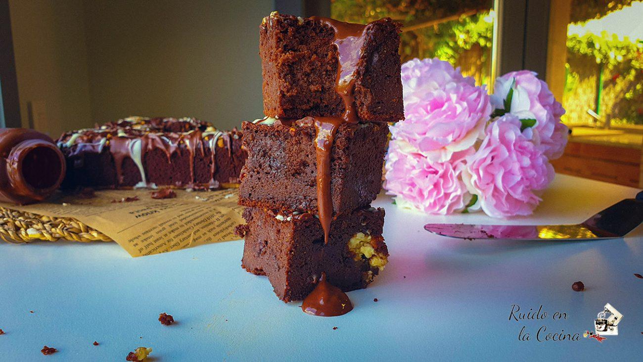 Brownie de calabaza 🎃, saludable
