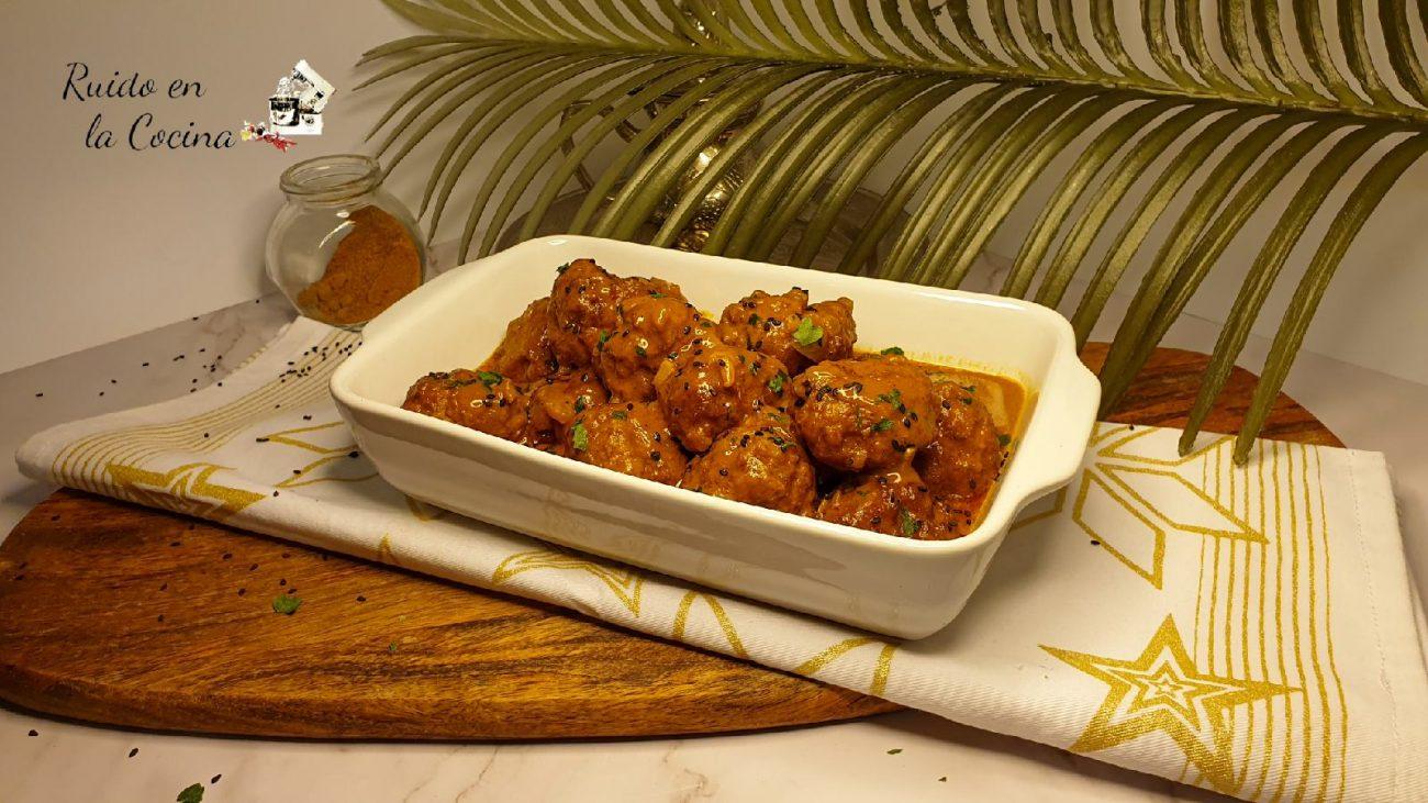Albóndigas al curry, deliciosas