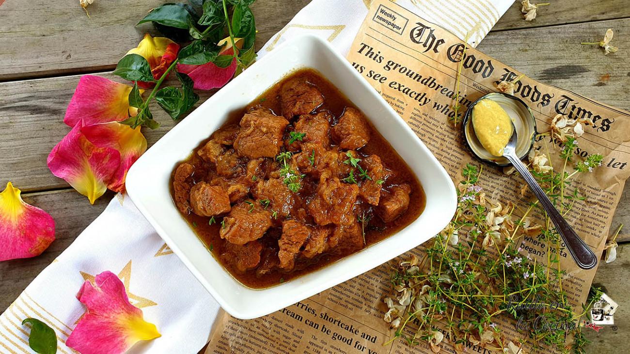 Carbonada belga o guiso de carne flamenco