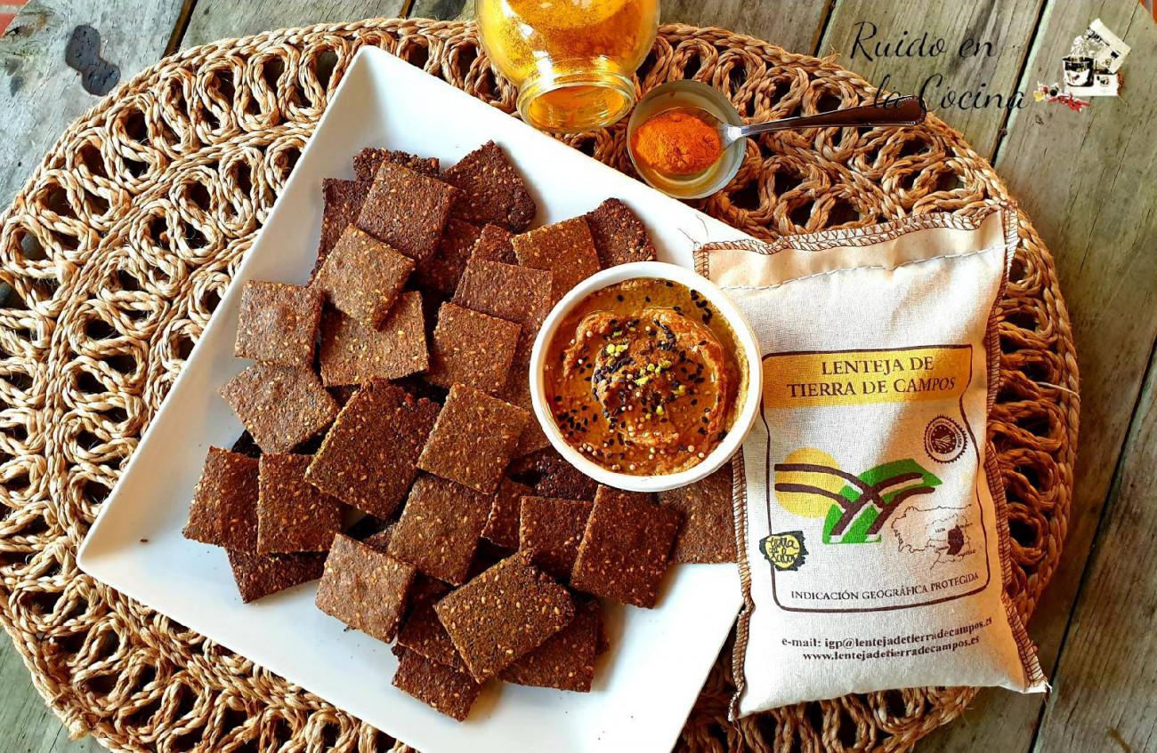Crackers de lentejas, saludables