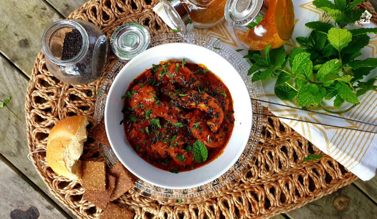 Langostinos al curry, espectaculares